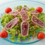 MAGURO SALAD - Insalata mista con filetti di tonno tataki