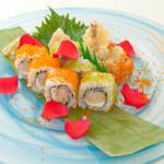 PHILADELPHIA MAKI - Rotolo tempura di gamberi e tobiko