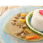 CURRYRICE - Riso al curry con filetto di manzo