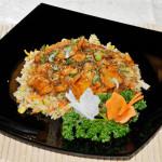 RISO POLLO - Riso alla piastra con pollo in salsa tariyaki