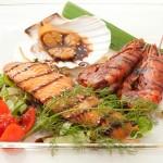 TEMPAKAISEN - Gamberoni, cappesante, salmone alla piastra